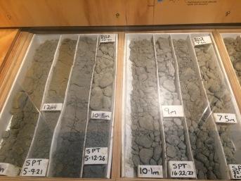 Liquefaction grains, Quake City Exhibit