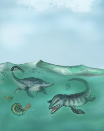 Mesosaur, digital