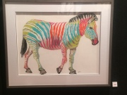 Jane Wrag, Zebra Party, Soft Pastel