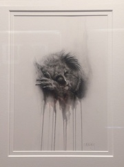 Sharon Moroney, The Vanishing, Charcoal & Watercolour